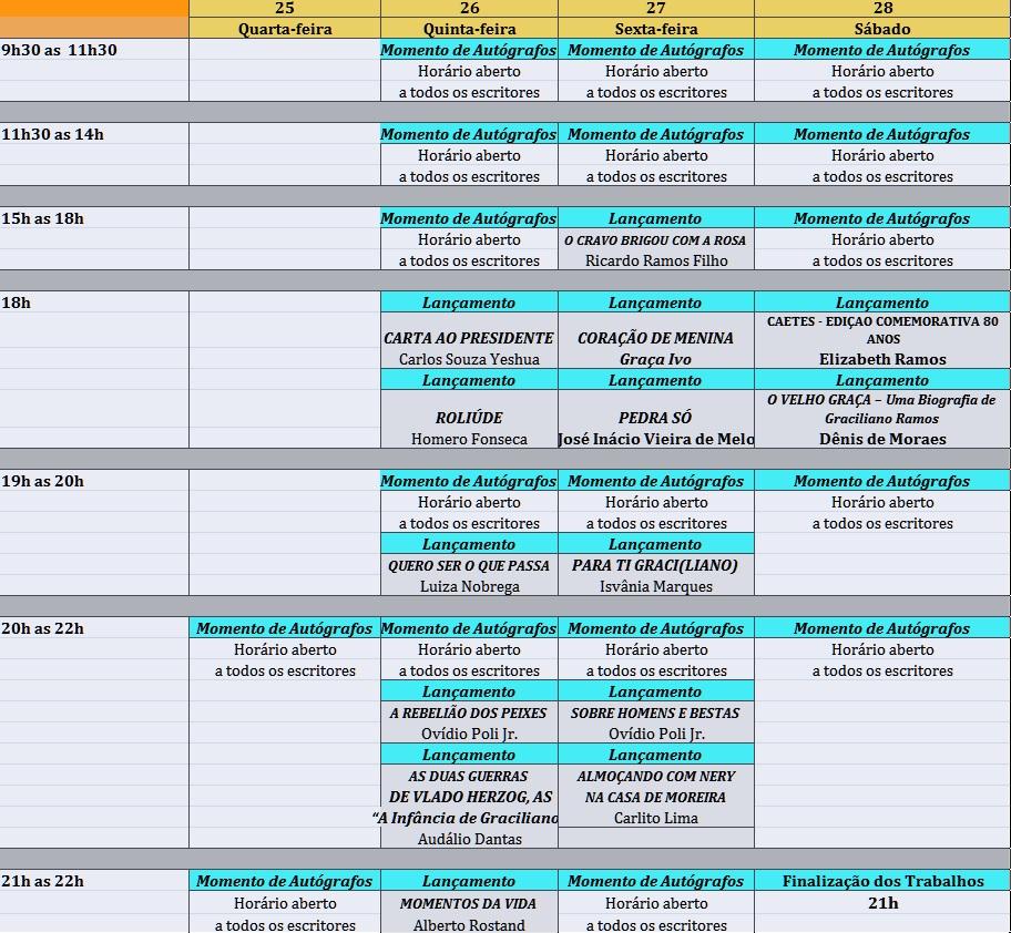 Calendário de Lançamento de Livros Flimar 2013